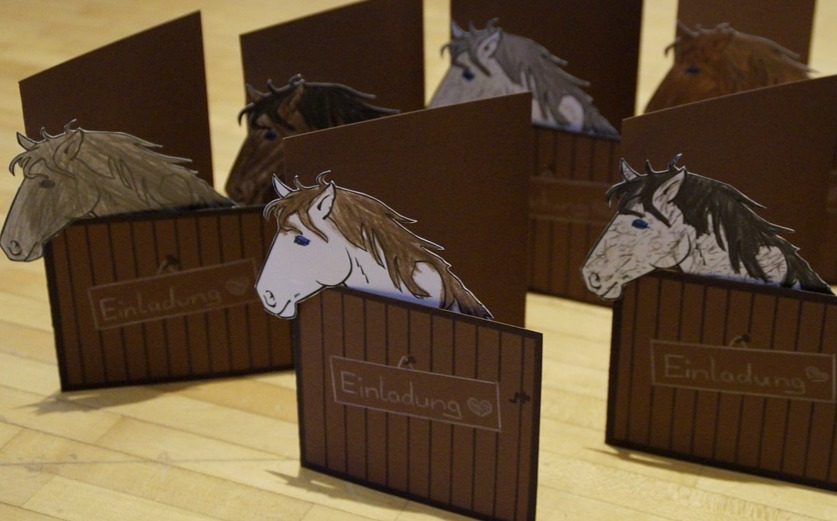 Horse Theme Invitations