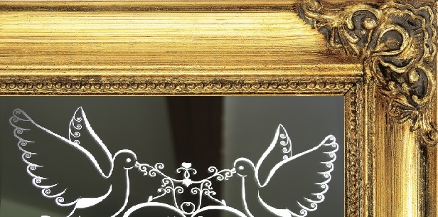 Gold Frame Mirror Table Plan