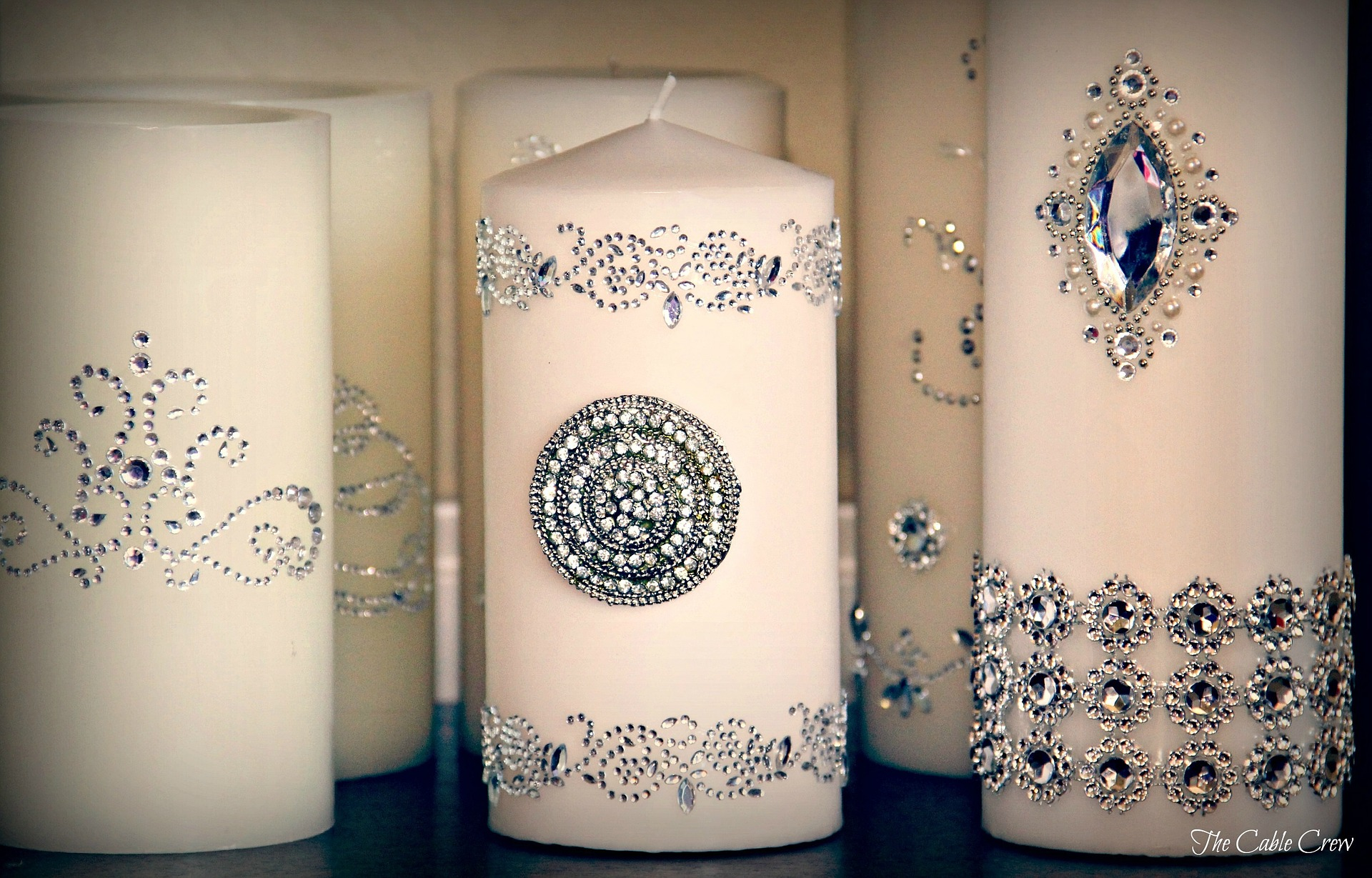 Embellished Candle