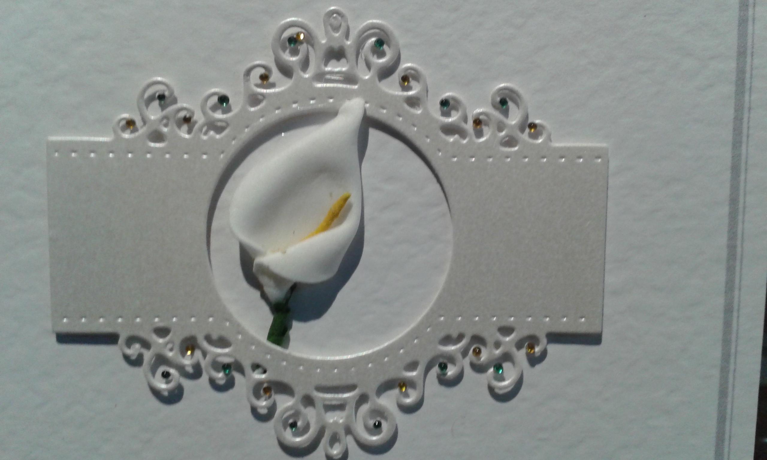 Die Cut Frame & Calla Lily
