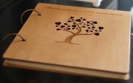 Wood Hardback Guest Book