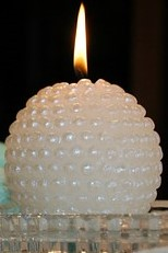 Pebbledash Ball Candle
