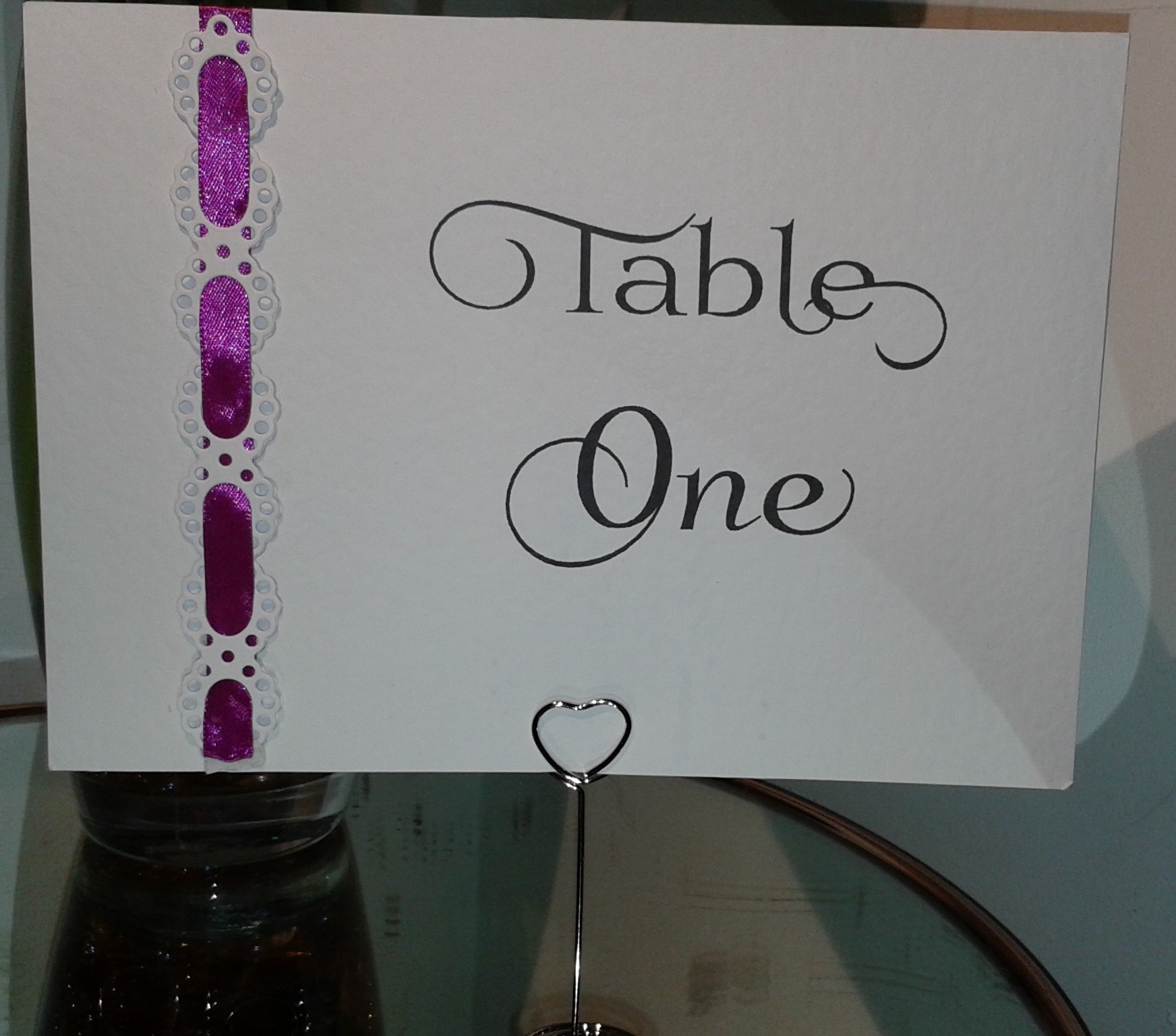 Die Cut Lace Table Name