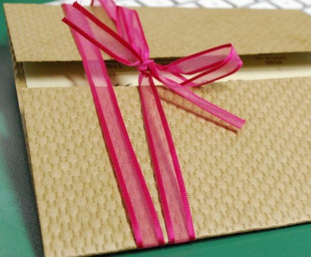 Ribbon Gatefold Invite