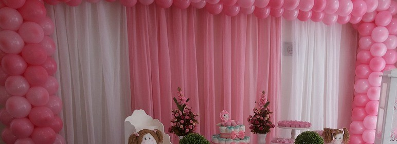 Balloon & Drapes Backdrop