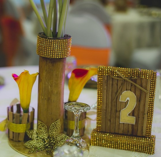 Diamante Table Decorations