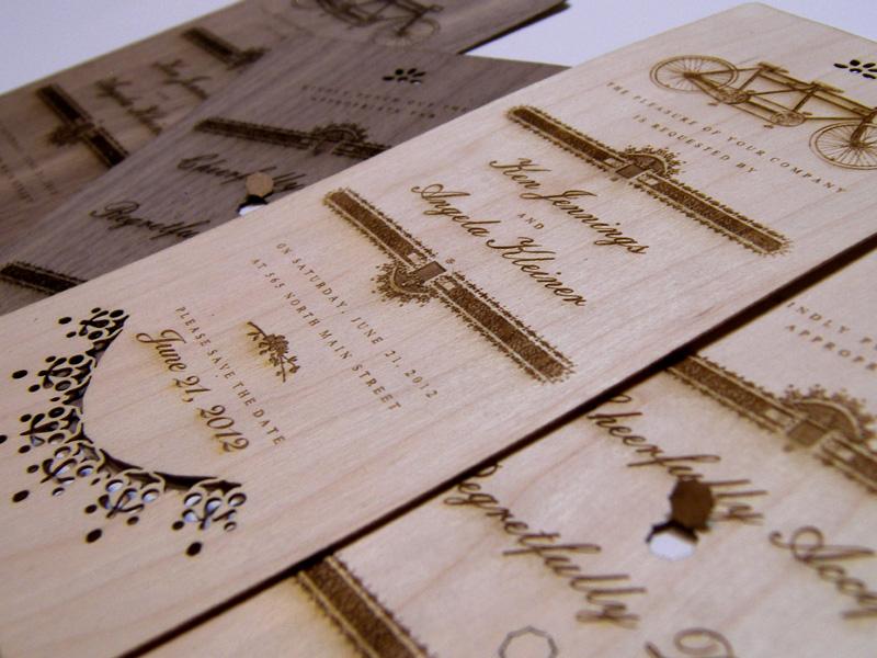 Wooden Scribe Invitations