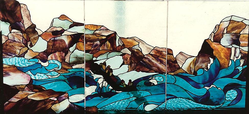 Row away From The rocks---Colorado Rafti