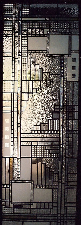 Contemporary Clear Leaded Glass Sideligh
