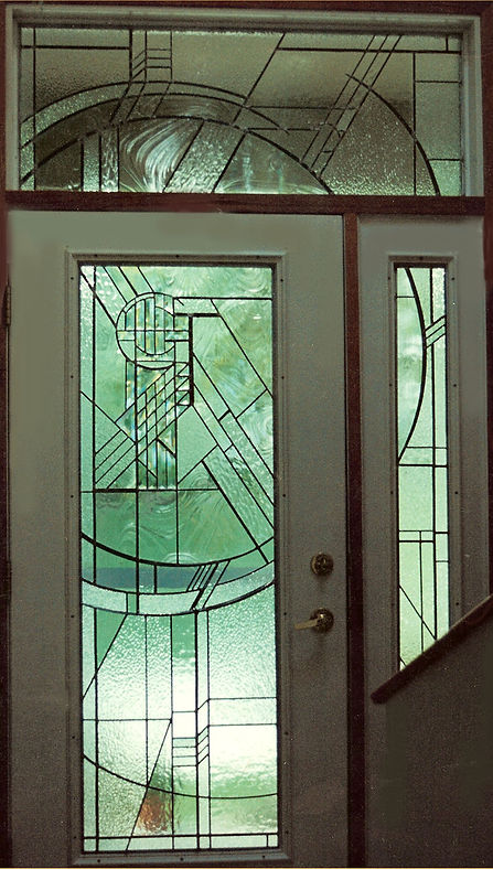 Clear Leaded Glass Contemporary