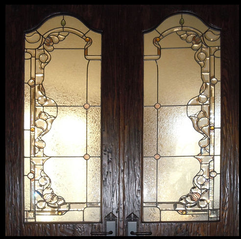 Classic French Style Beveled Glass Offic