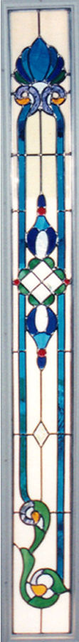 Blue victorian sidelight