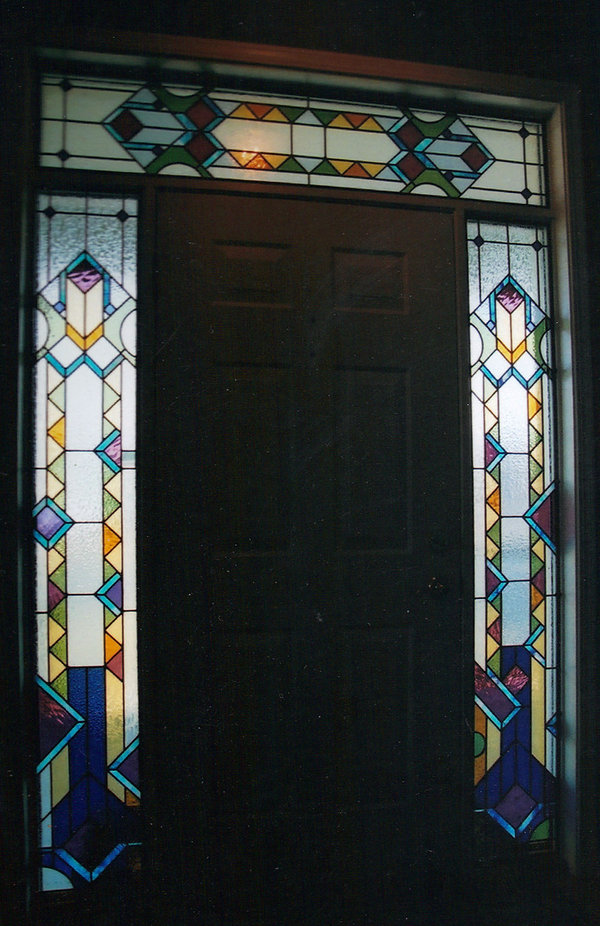 Colorful Sidelights and Transom