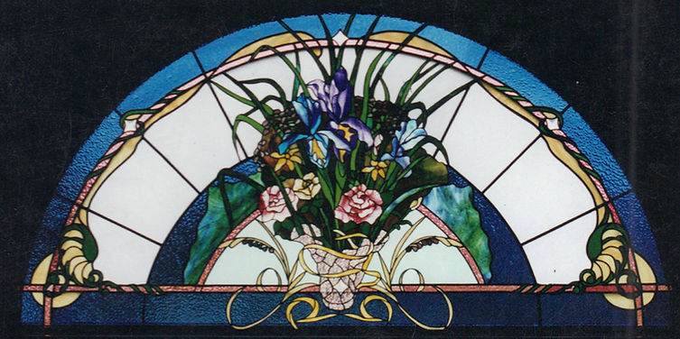 Bouquet of Flowers Arched Window