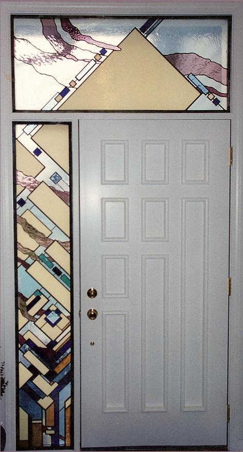 Modern Geometric Entryway