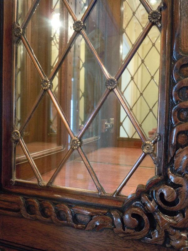 brass cabinet detail