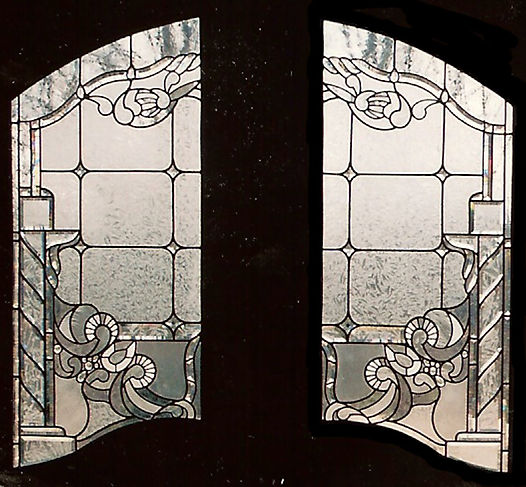 Clear Leaded Glass Entryway Doors