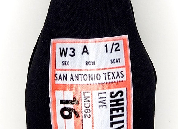 Retro Concert Ticket Koozie