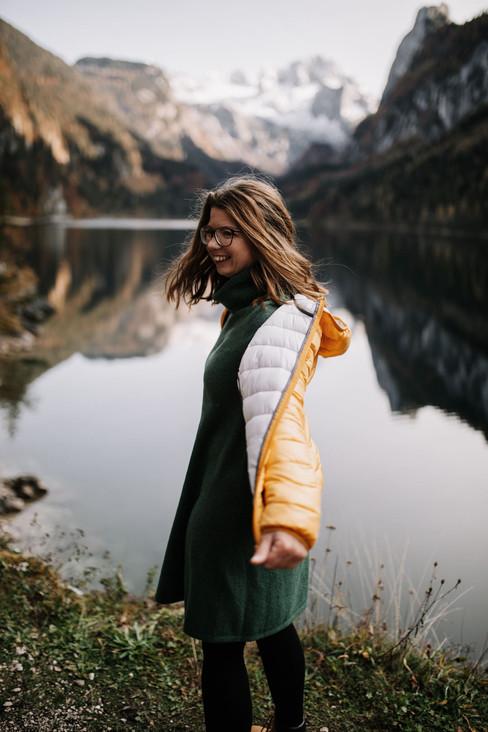 Portraitfoto in den Bergen Location: Gosauseen