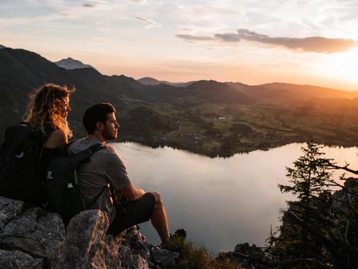 Wandershooting bei Sonnenuntergang