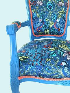 Blue peacock chair