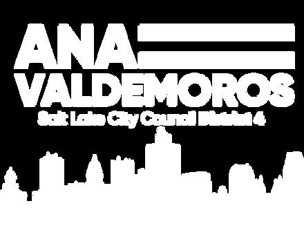 Ana Valdemoros White Logo