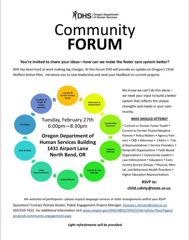 YOU HAVE A VOICE...Child Welfare Community Forum