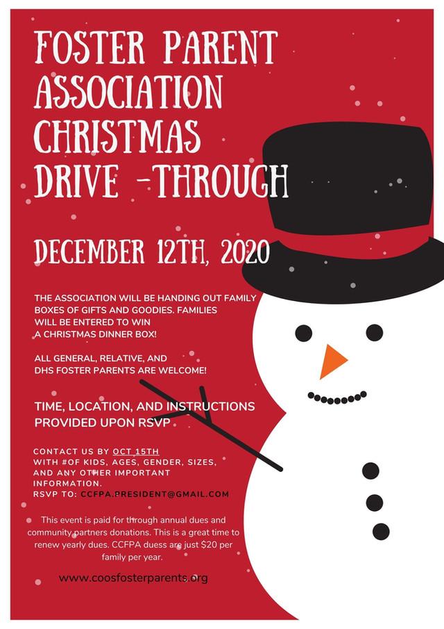 Foster Parent Association Christmas Drive-Through