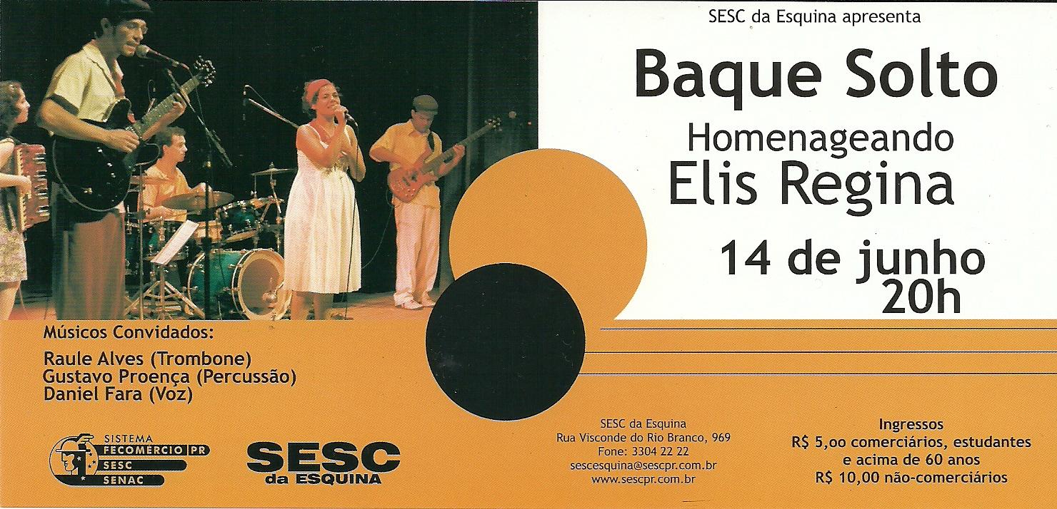 Baque Solto no show Elis