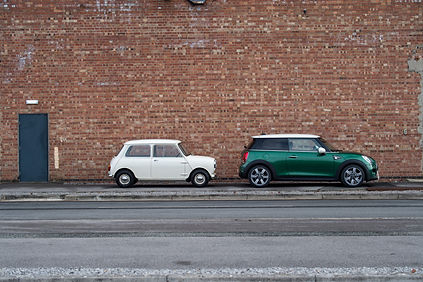 1959 morris Mini vs new MINI