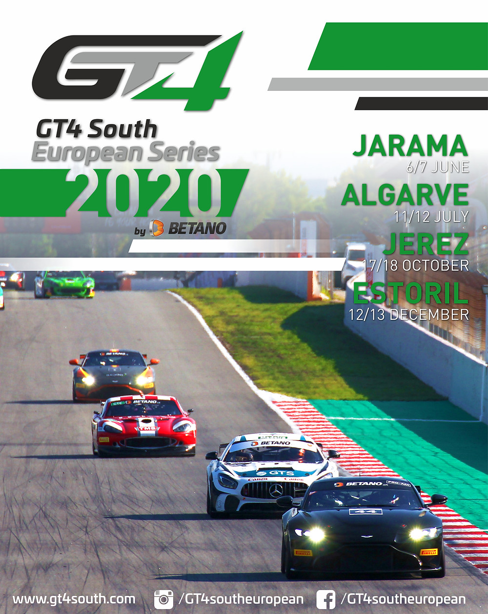 GT4 South European 2020 calendar