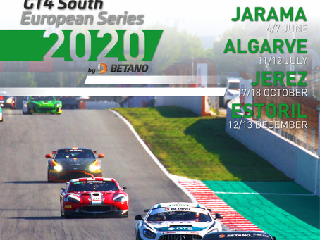 The GT4 South European 2020 calendar