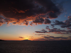 Sunset over Vesuvius, from Sorrento