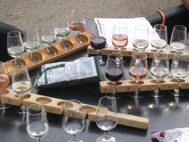 Wine-tasting at Three Choirs Vineyard, Gloucestershire