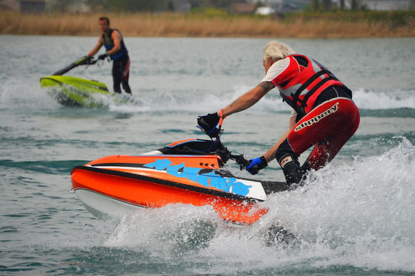 Crazy Joe and his son ride their BAM Hulls on Lake St. Clair, Michigan