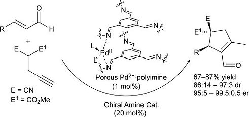 The Use of Porous Pd2+-polyimine in Coop