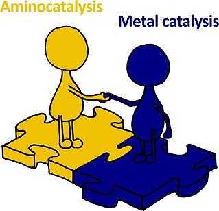 Combinations of Aminocatalysts and Metal