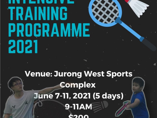 June Holiday Intensive Training Programme 2021
