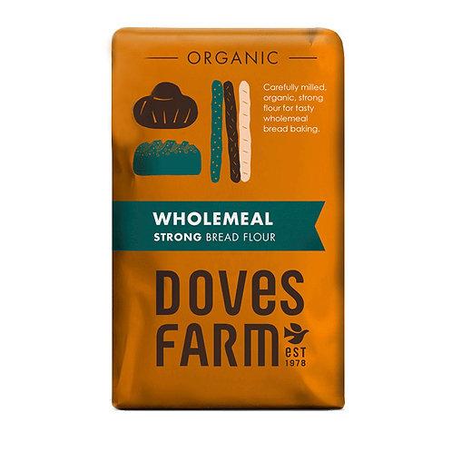 Organic Wholemeal Fine Plain Flour (1kg)