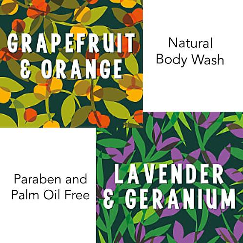 Faith in Nature Refill Bodywash: Grapefruit & Orange, Lavender & Geranium