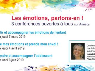 3 conférences sur les émotions ouvertes à tous sur Annecy !