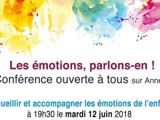 Conférence sur les émotions de l'enfant le 12 juin à Annecy !
