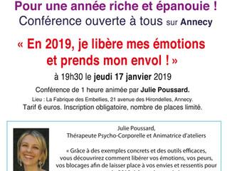 """Conférence """"En 2019, je libère mes émotions et prends mon envol !"""""""