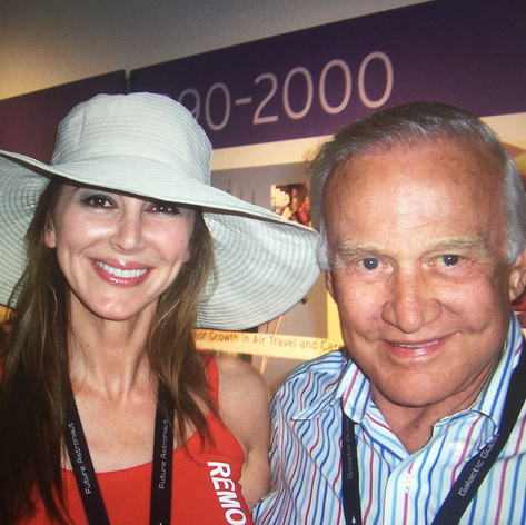 Buzz Aldrin and Natasha Pavlovich