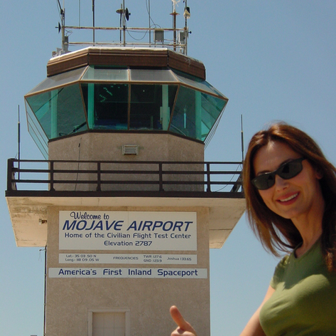 At Mojave, Ca. , First commercial  spaceport