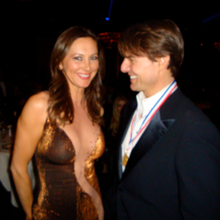 With Tom Cruise