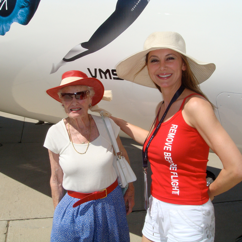 With Eve Branson. Iconic.