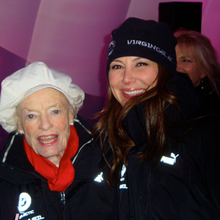 With the awesome Eve Branson
