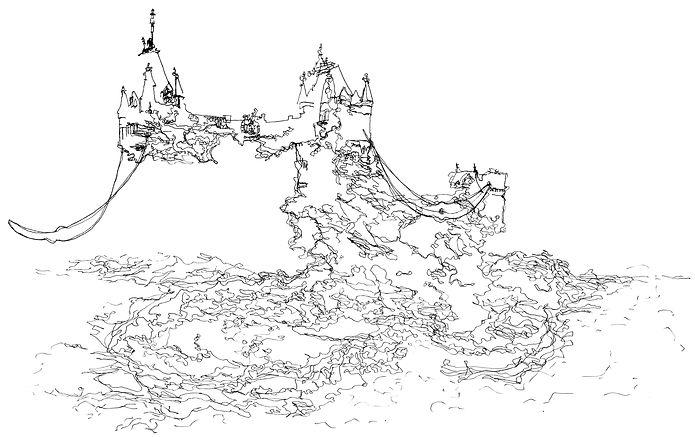 tower bridge, artist in residence, artist, london, drawing, alex evans, city, draw, architecure