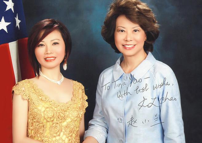 With Elaine Chao, Secretary of Transportation